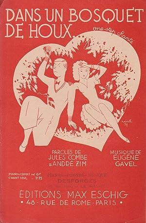 """Partition de """"Dans un bosquet de houx"""",: COMBE, Jules et"""