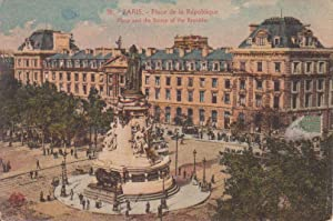 Carte postale : PARIS, place et statue de la République