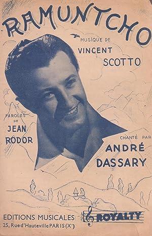 """Partition de """"Ramuntcho"""", chanson créée par André: RODOR, Jean et"""
