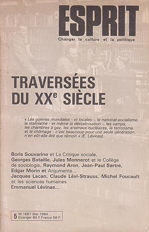 """Revue """"Esprit"""" n°89, mai 1984 : """"Traversées: Collectif (Paul Thibaud,"""