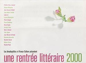 """Rentrée littéraire 2000 (Une), supplément au magazine """"Les Inrockuptibles..."""