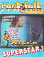 Magazine Rock & Folk n°223, octobre 1985 (Phil Collins)