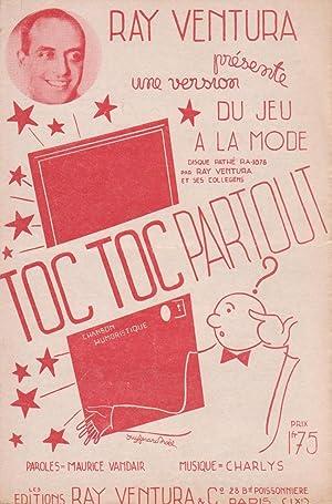 """Partition de """"Toc Toc partout"""", fox-trot humoristique: VANDAIR, Maurice (compositeur"""