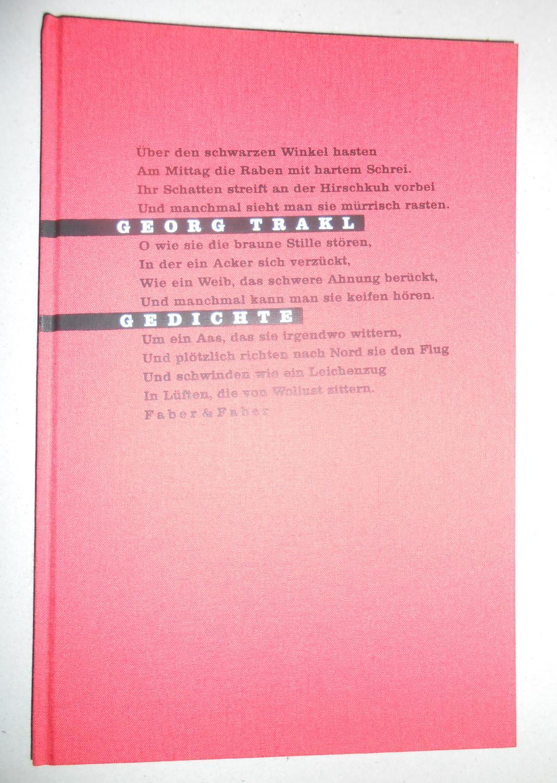 Gedichte. Mit zehn Zeichnungen und vier Originallithographien: Trakl, Georg: