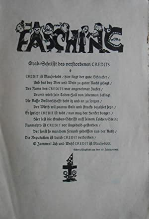 Faschings-Nummer der Zeitschrift ?Das Zelt?. herausgegeben von der Ehmcke-Klasse der staatlichen ...