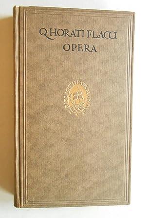 Q. Horati Flacci Opera. Curavit editionem R. Heinze.: Horaz (Quintus Horatius Flaccus):