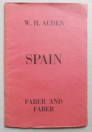 Spain.: Auden, W. H. (Wystan Hugh):