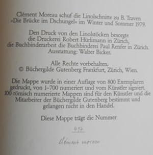 21 Linolschnitte zu B. Traven ?Die Brücke im Dschungel?. Einführung von Guido Magnaguagno...