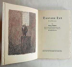 Dantons Tod. Ein Drama. Mit 18 kolorierten Federzeichnungen nach der Aufführung des Deutschen ...
