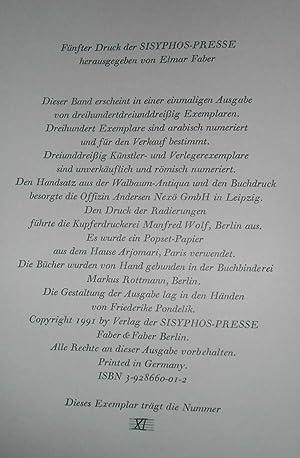 Die Vergewaltigung. Sechs Erzählungen. Sechs Originalradierungen von Dieter Tucholke. ...