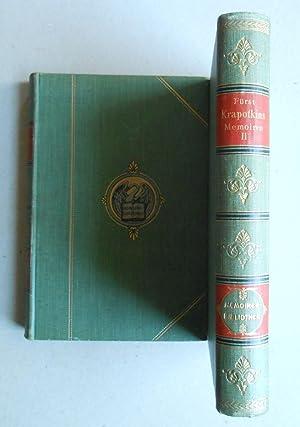 Memoiren eines Revolutionärs. Autorisierte Übersetzung von Max: Fürst Peter Krapotkin