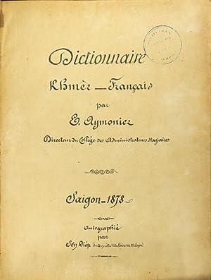 Dictionnaire khmer-français: AYMONIER, Etienne