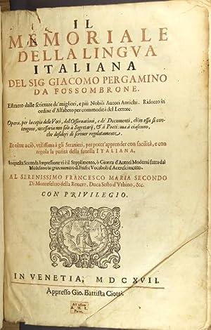 Il memoriale della lingua italiana: Pergamino, Giacomo