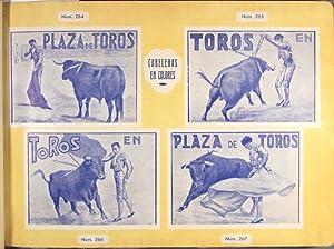 Catalogo muestrario de carteles, cartelitos, baveceras, prospecots y billetes de propaganda taurina...