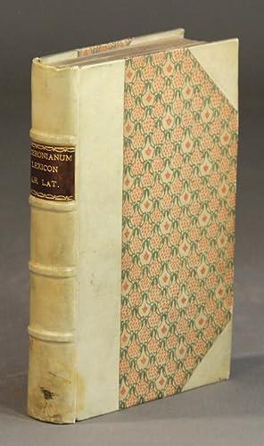Ciceronianum lexicon græcolatinum. Id est, lexicon ex: Estienne, Henri