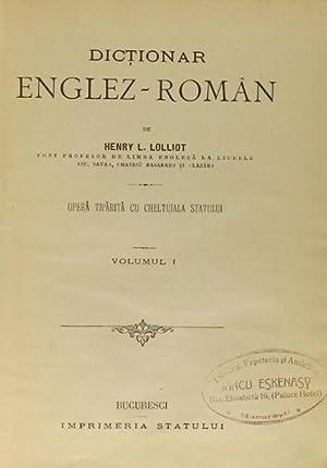 Dictionar Englez-Roman. Opera tiparita cu cheltuiala statului: Lolliot, Henry L.
