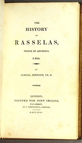 The history of Rasselas, prince of Abyssinia. A tale: Johnson, Samuel