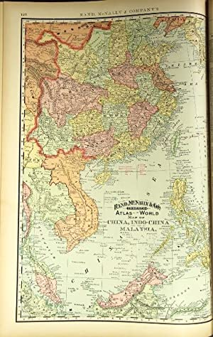 Rand, McNally & Co.'s indexed atlas of the world.containing large scale maps of every country and...