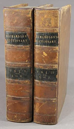 A new dictionary of the English language: Richardson, Charles