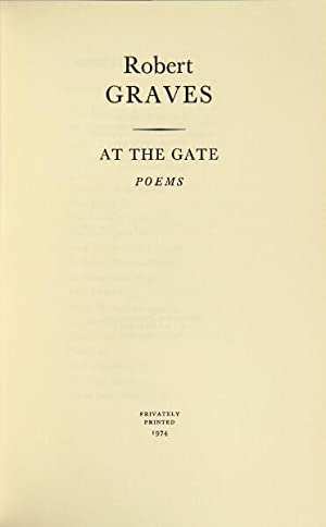 At the gate: poems: Graves, Robert