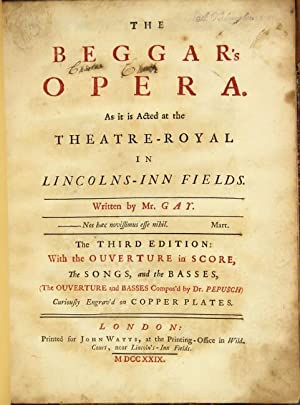 The beggar's opera.The third edition: with the ouverture in score, the songs, and the ...