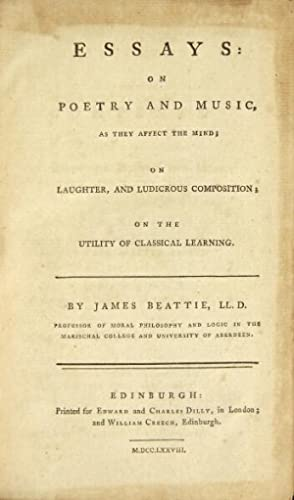Essays: on poetry and music, as they affect the mind; on laughter, and ludicropus composition; on ...