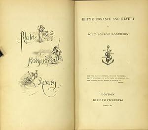 Rhyme romance and revery: ROGERSON, JOHN BOLTON