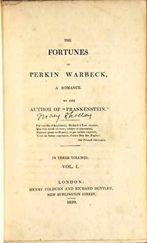 The fortunes of Perkin Warbeck, a romance.: Shelley, Mary Wollstonecraft
