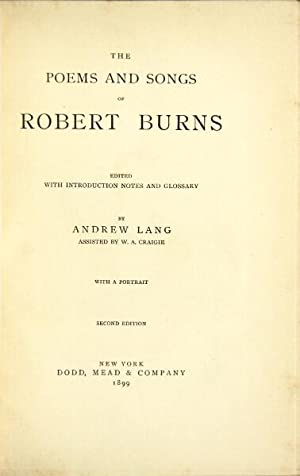 Poems and songs . with introduction notes and glossary: Burns, Robert (Lang, Andrew, ed.)