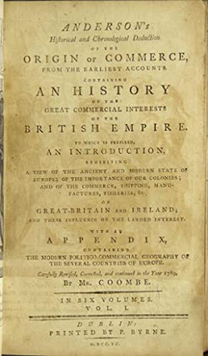 Anderson's historical and chronological deduction of the: Anderson, Adam