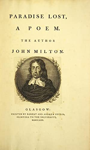 Paradise lost, a poem: Milton, John
