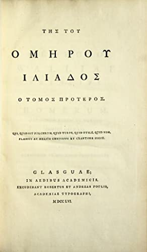The Iliad in Greek:] Tes tou Homerou: Homer