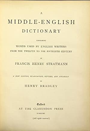 A Middle English dictionary containing words used: Stratmann, Francis
