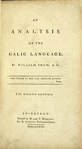 An analysis of the Galic language