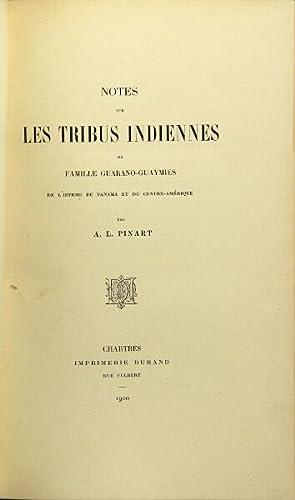 Notes sur les tribes indiennes de famille Guarano-Guaymies de l'isthme de Panama et du ...