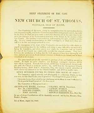 Brief statement of the case of the New Church of St. Thomas, Douglas, Isle of Mann