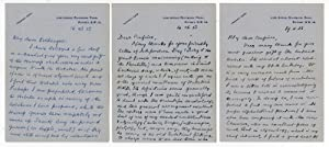 Three autograph letters to John W. Clark, all addressed to
