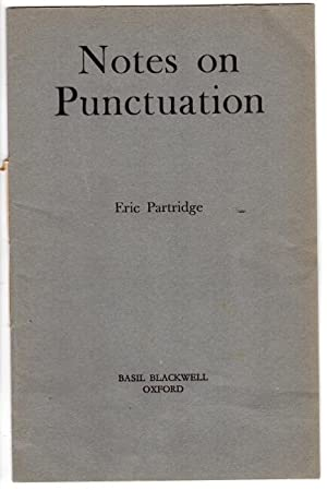 Notes on punctuation [cover title]