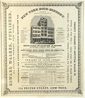 New York Book-Bindery. Established 1836. Burnt down January 23d. 1852. Rebuilt May 1st, 1852