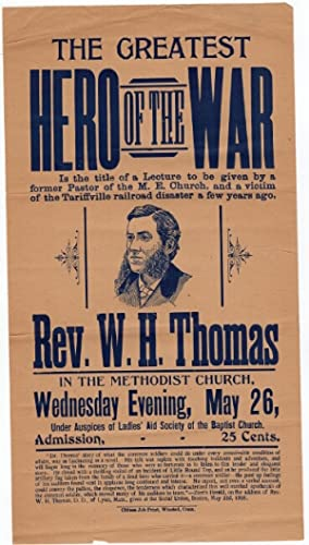 The Greatest Hero of the War is the title of a lecure to be given by a former paster of the M. E....