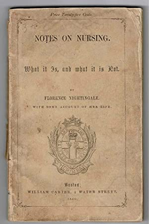 Notes on nursing. What it is, and what it is not.with some account of her life