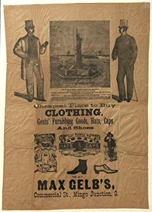 Cheapest place to buy clothing, gents' furnishing goods, hats, caps and shoes . is at Max Gelb's,...