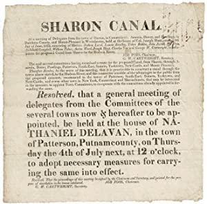 Sharon Canal. At a meeting of delegates from the town of Sharon, in Connecticut; Amenia, Dover, a...