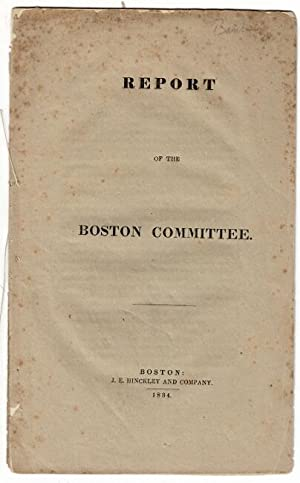 Report of the Boston Committee