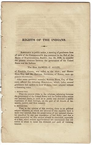 Rights of the Indians [drop title]