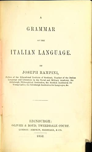 A grammar of the Italian Language
