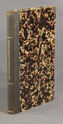 Register zu J. Grimms Deutscher Grammatik, von Dr. K.G. Andresen: GRIMM, JACOB