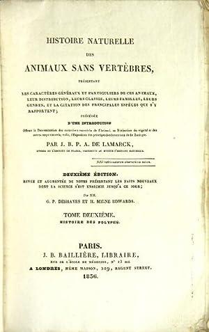 Histoire naturelle des animaux sans vertèbres, présentant: Lamarck, Jean Baptiste