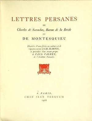 Lettres Persanes de Charles de Secondat, Baron: MONTESQUIEU, Charles de