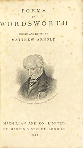 Poems. Chosen and edited by Matthew Arnold: WORDSWORTH, WILLIAM.